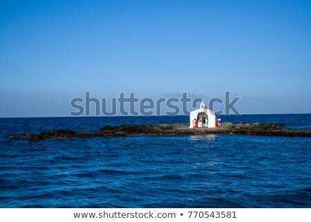 небольшой христианской Церкви Греция лес здании Сток-фото © ankarb