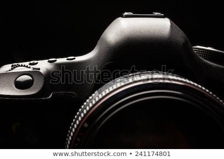 ストックフォト: プロ · 現代 · デジタル一眼レフ · カメラ · 低い · キー