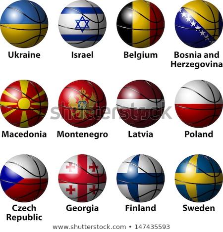Finlandia baloncesto bandera 3d cuadrados imagen Foto stock © Koufax73