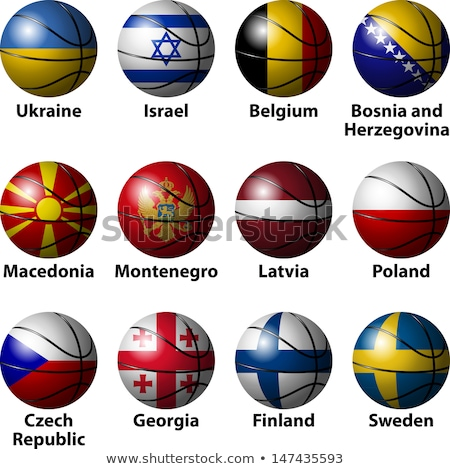 Finlândia basquetebol bandeira 3d render praça imagem Foto stock © Koufax73