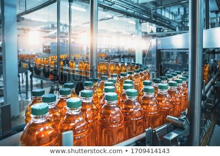 Background of conveyor belt with bottles. Stock photo © RAStudio