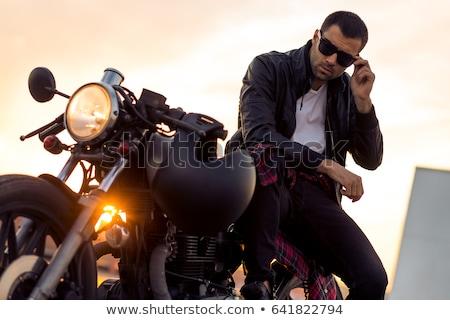 handsome man on the motorbike stock photo © bezikus