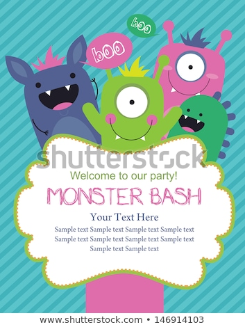 monster party card design Stock photo © nezezon
