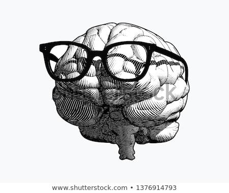 гений geek ретро Cartoon вектора искусства Сток-фото © vector1st