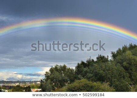 Bizarre Multiple Rainbow Stock photo © paulfleet