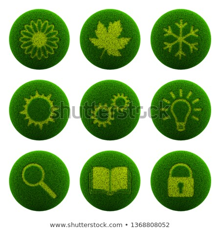sun over green meadow. Isolated 3D image Stock photo © ISerg