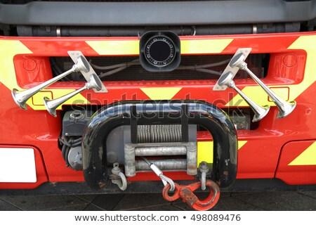 Szczegóły wóz strażacki sygnał róg wody Zdjęcia stock © vladacanon