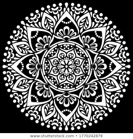 Design with white mandala Stock photo © blackmoon979