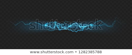 Stock photo: Blue electric power flash. EPS 10