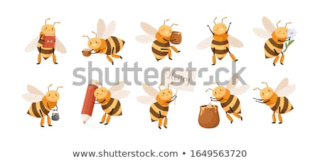 Wasp holding Pencil Stock photo © derocz