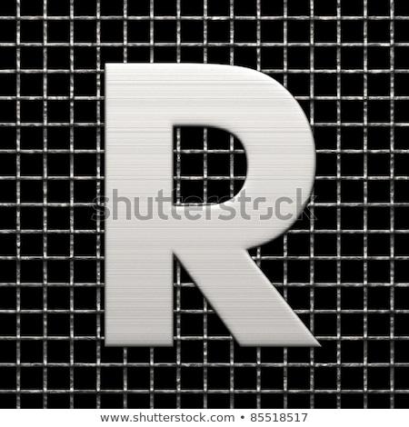 metal lattice font letter r 3d stock photo © djmilic