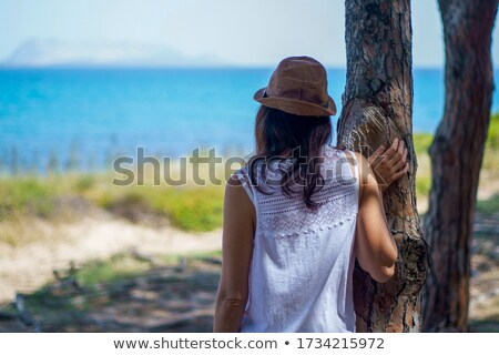 Sad woman grief against forest Stock photo © wavebreak_media