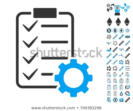 Ethereum Options Gear Flat Icon with Set Stock photo © ahasoft