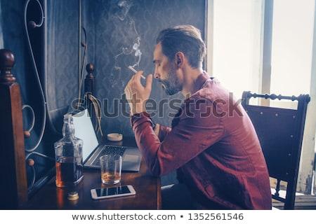 cigarette · Butt · bleu · fumée · fumer - photo stock © magann