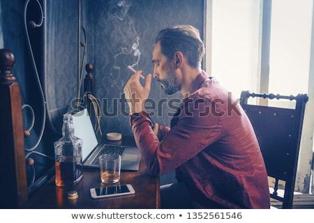 smoking cigarette side view Stock photo © magann