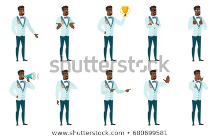 African confused groom shrugging shoulders. Stock photo © RAStudio