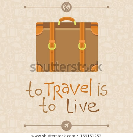 background  patterned travel suitcase in a flat style Stock photo © Olena