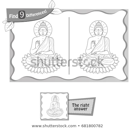 find 9 differences game Buddha Stock photo © Olena