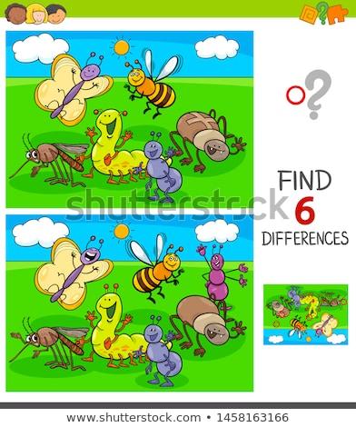 Mug plek verschil spel kinderen taak Stockfoto © Olena