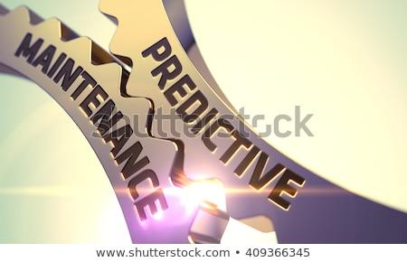 Wartung golden Mechanismus glühen Wirkung Stock foto © tashatuvango