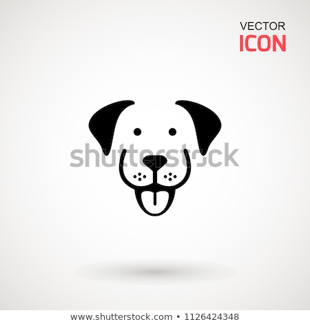 Smiling dog isolated on white vector flat illustration Stock photo © robuart
