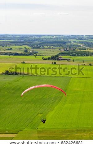 フィールド 飛行 ポーランド 山 緑 ストックフォト © FOTOYOU