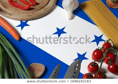 Salad preparation background Stock photo © YuliyaGontar