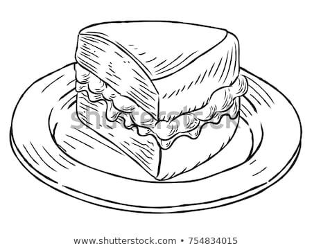 klasszikus · szendvicsek · felirat · stílus · szendvics · grafikus - stock fotó © krisdog