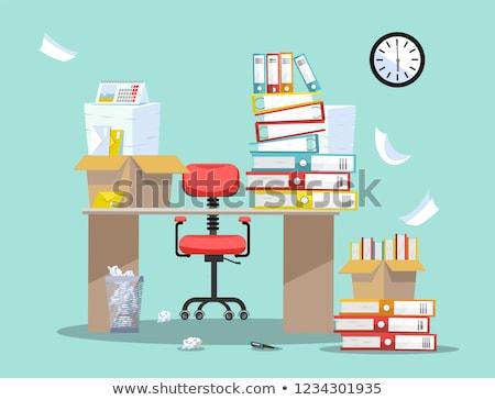 офисные кресла файла баланса файла документы Сток-фото © IS2