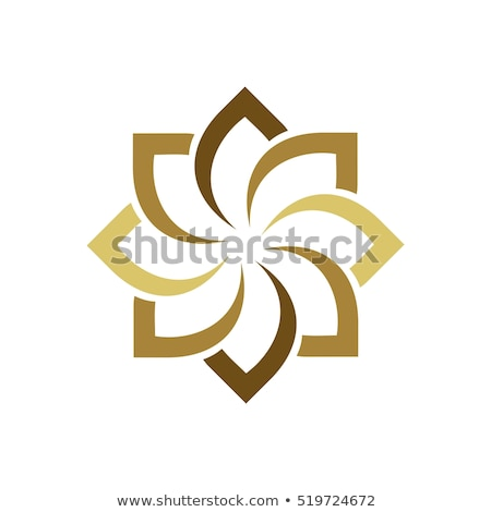 Abstract circle star logo template. modern health care design co stock photo © taufik_al_amin