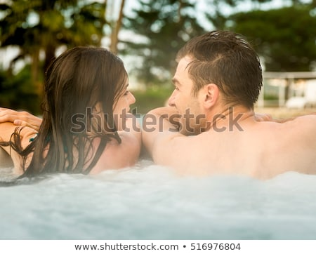 Couple in hot tub Stock photo © IS2