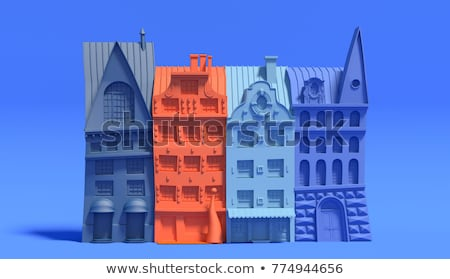 Colorful Miniature City Stock photo © lenm