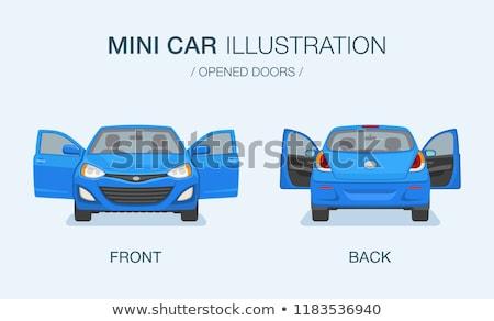Autó ajtó vektor ikon izolált fehér Stock fotó © smoki