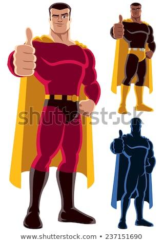 Yellow Cartoon Hand Giving Thumbs Up Gesture Stock photo © hittoon