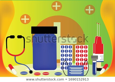 technical support, computer support and diagnostic. Vector illustration isolated on modern backgroun stock photo © kyryloff