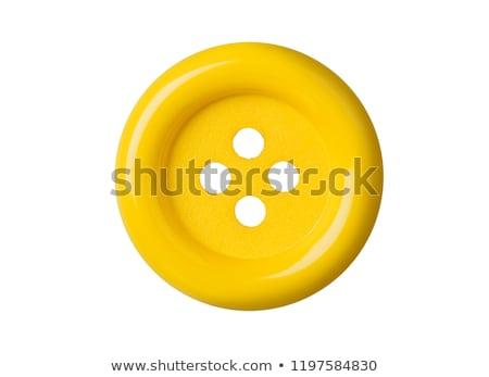 針 オレンジ スレッド ボタン 白 作業 ストックフォト © OleksandrO