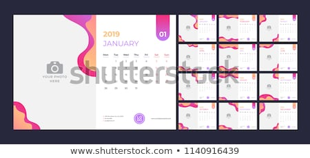 abstract 2019 calendar design template Stock photo © SArts