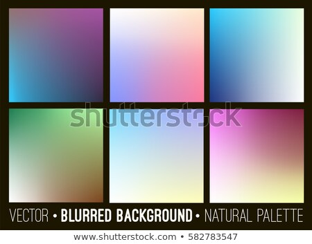 Set of abstract soft blurry background. Flower palette. Smooth colorful banner template collection. Stock photo © ESSL
