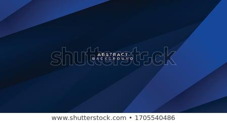 Abstrato azul ondulado forma triângulo Foto stock © SArts