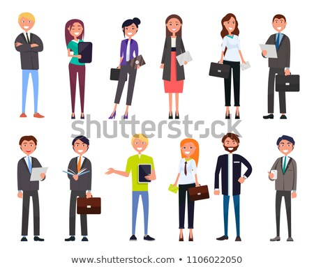 Businesspeople Elegant Expensive Suits Successful Stock photo © robuart