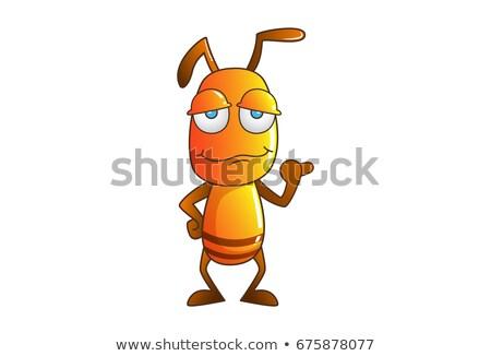 Vervelen weinig mier cartoon illustratie naar Stockfoto © cthoman