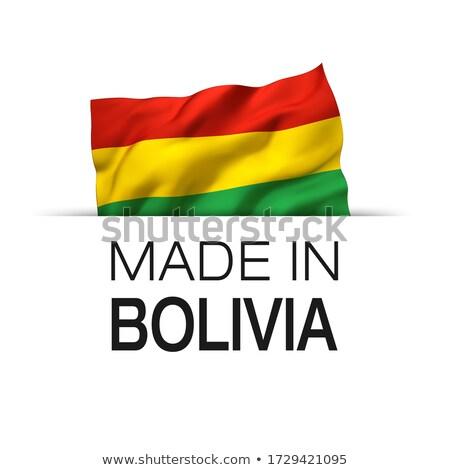 zászló · Bolívia · nagy · méret · illusztráció · vidék - stock fotó © daboost
