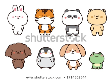 Doodle animal character for frog Stock photo © colematt