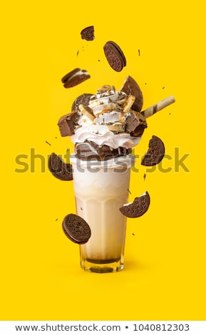 extreme milkshake with chocolate cookies and sweets stock photo © illia
