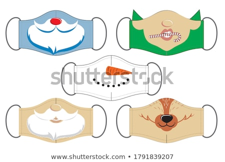 Christmas Cartoon Icon - Smiling Snowman Stock photo © nazlisart