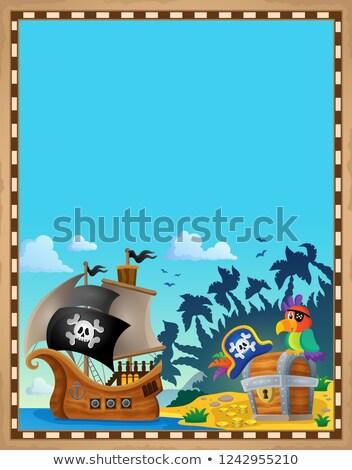 pirate topic parchment 7 stock photo © clairev