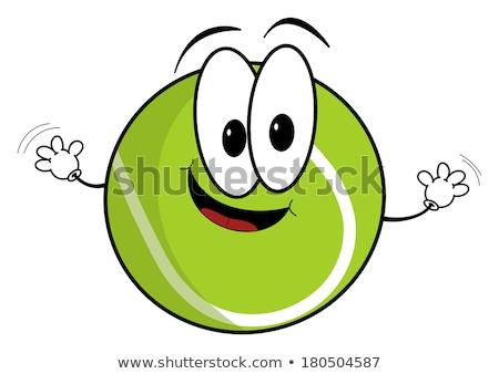 teniszlabda · kabala · illusztráció · tart · ütő · boldog - stock fotó © hittoon