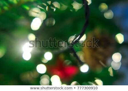 beautiful decorative christmas golden tree sparkles background Stock photo © SArts