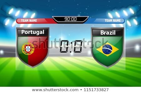 Portugal vs Brazilië scorebord illustratie klok Stockfoto © colematt