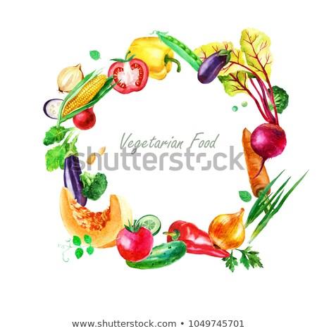 Croquis aubergine isolement blanche vecteur nature Photo stock © Arkadivna